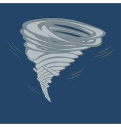 Tornado on grey background vector