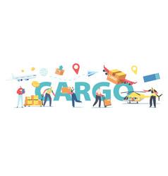 Transportation storage logistic concept worker vector