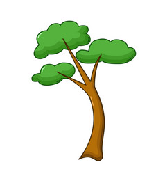tree icon cartoon style vector image