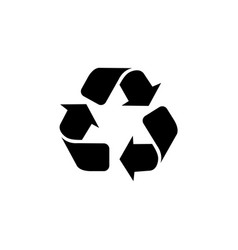 triangular arrows sign for recycle icon vector image