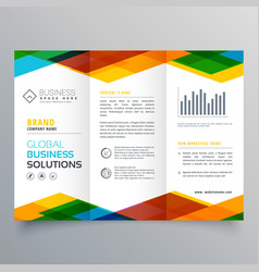 Trifold brochure design made with colorful vector