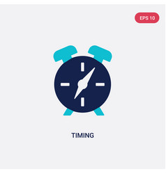 Two color timing icon from human resources vector