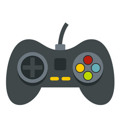 Video game controller icon isolated vector