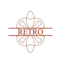 vintage ornamental label vector image