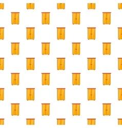 Wardrobe pattern cartoon style vector image