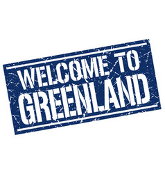 welcome to greenland stamp vector image