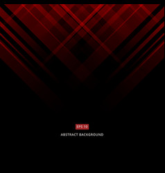 abstract black and red technology design vector image