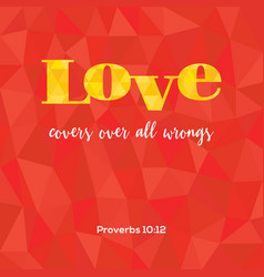 Bible verse love covers vector