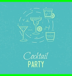 cocktail outline vector image