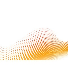 Orange halftone background on the white vector