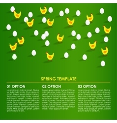 Spring easter infographics background card with vector image vector image