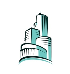 Abstract urban skyline with modern architecture vector image vector image