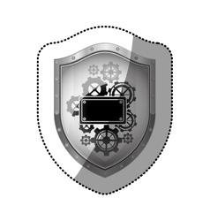 Badge security symbol vector