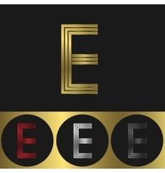 E Letter logo vector image vector image