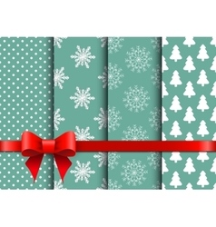 Set christmas seamless backgrounds vector image