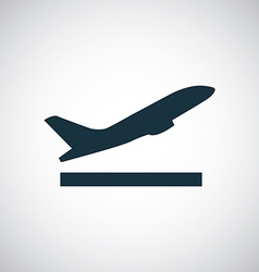 airplane up icon vector image vector image