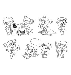 back to school coloring book vector image vector image