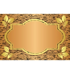beige card with abstract texture vector image vector image