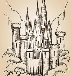 castle card vector image