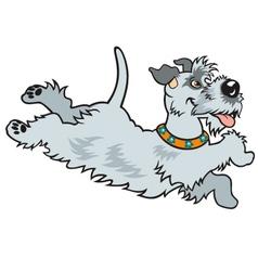 happy dog vector image vector image