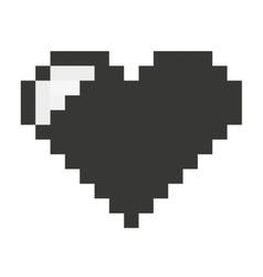 heart pixel love icon vector image