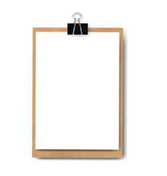 realistic clipboard isolated vector image vector image