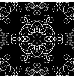Seamless background with ornaments vector image