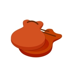 Spanish castanets icon isometric 3d style vector image vector image