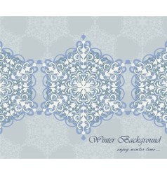 Winter card background with ornaments vector