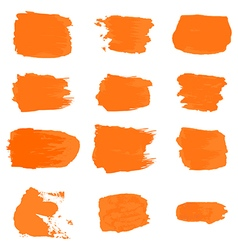 brush stroke paint abstract white background set vector image vector image