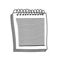 contour of notebook of spiral with sheets vector image vector image