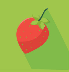 fresh strawberry and green background vector image vector image