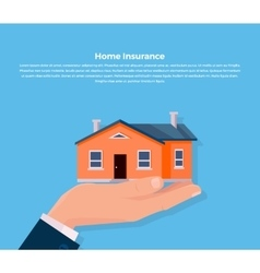 Insurance Home Concept vector image