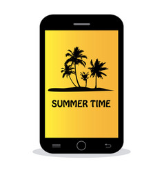 summer time - tropical island vector image vector image