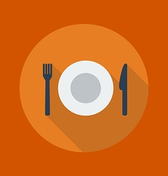 Travel Flat Icon Restaurant vector image vector image