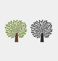 tree logo or symbol nature garden ecology vector image vector image