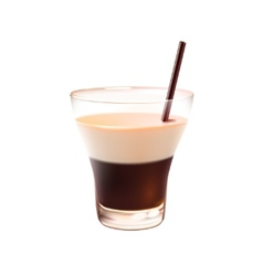 White russian cocktail realistic vector image vector image