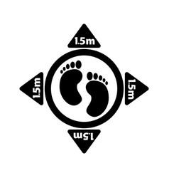 1253 social distancing footprint 15m vector image