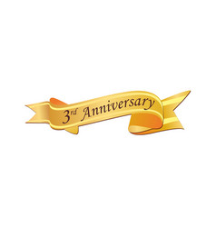 3rd anniversary logo vector image