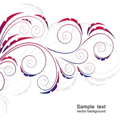 Abstract background with curls vector image