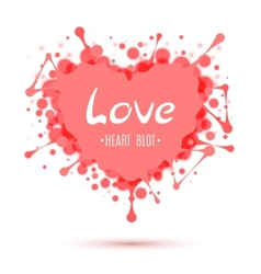 Abstract heart blot isolated on white vector image
