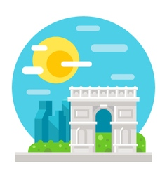 Arc de Triomphe flat design vector