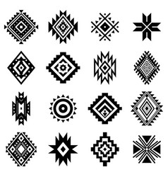 aztec elements vector image
