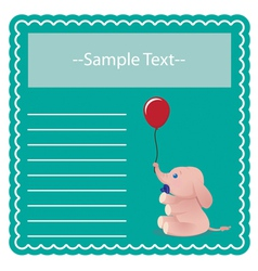 Baby Elephant Card vector