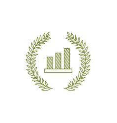 bar chart vintage traditional logo icon vector image