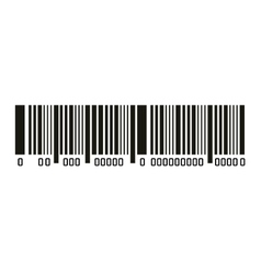Bar code with serial number icon vector image