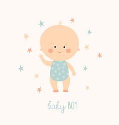 Bashower card for baboy cute baboy vector
