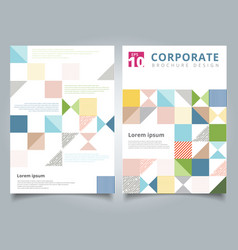 brochure design template flyer cover geometric vector image