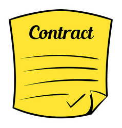 Business contract icon cartoon vector