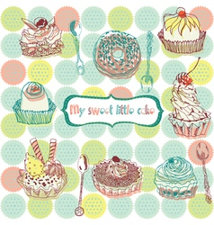 cake wallpaper vector image